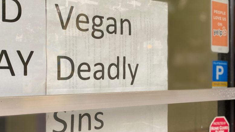 Storefront, Vegan Deadly Sins restaurant