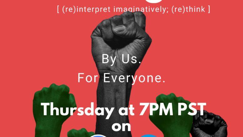 Flyer for B Street Theatre's Re Imagine Program
